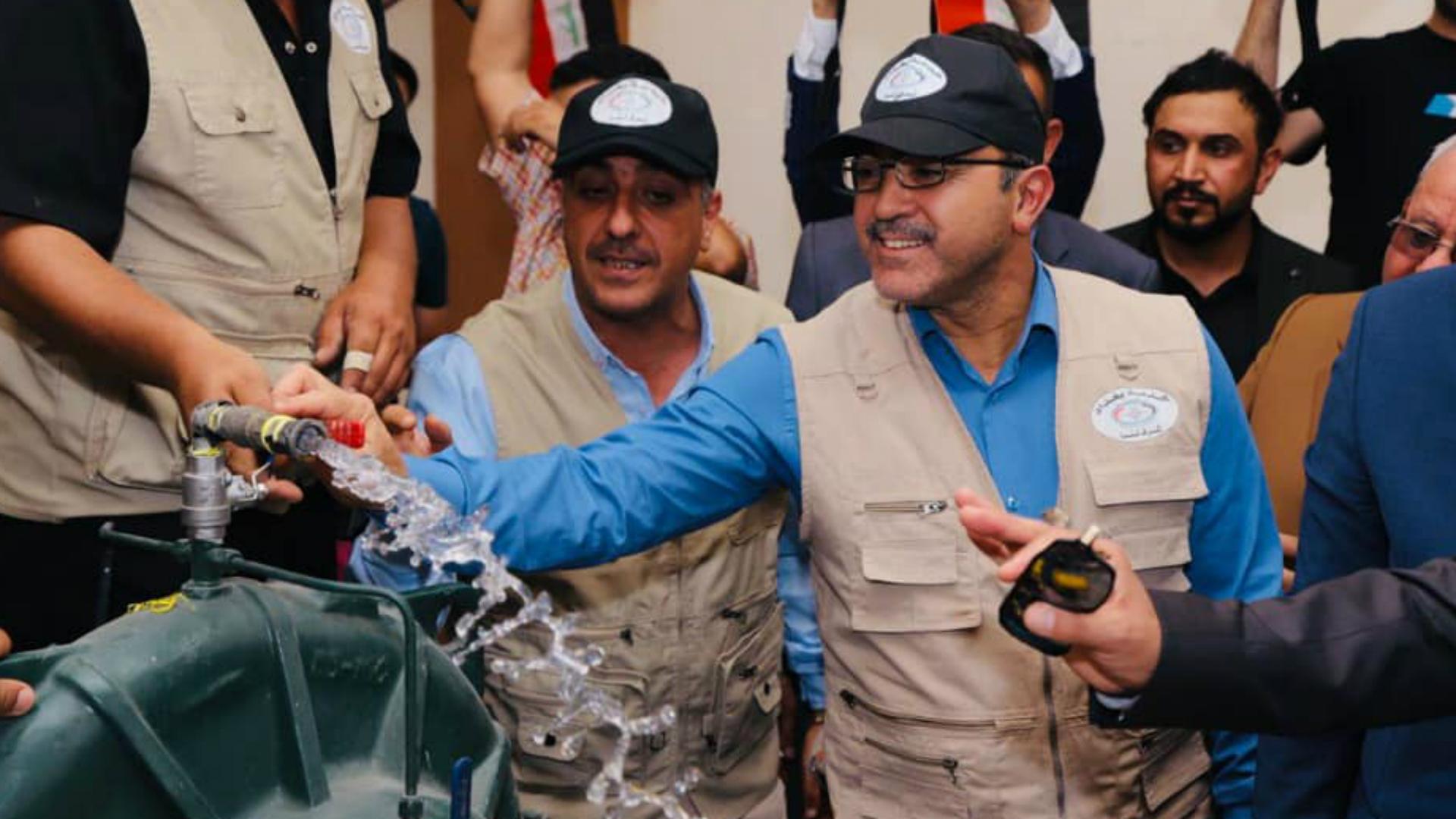 افتتاح محطة نقل ماء الزوراء في بغداد