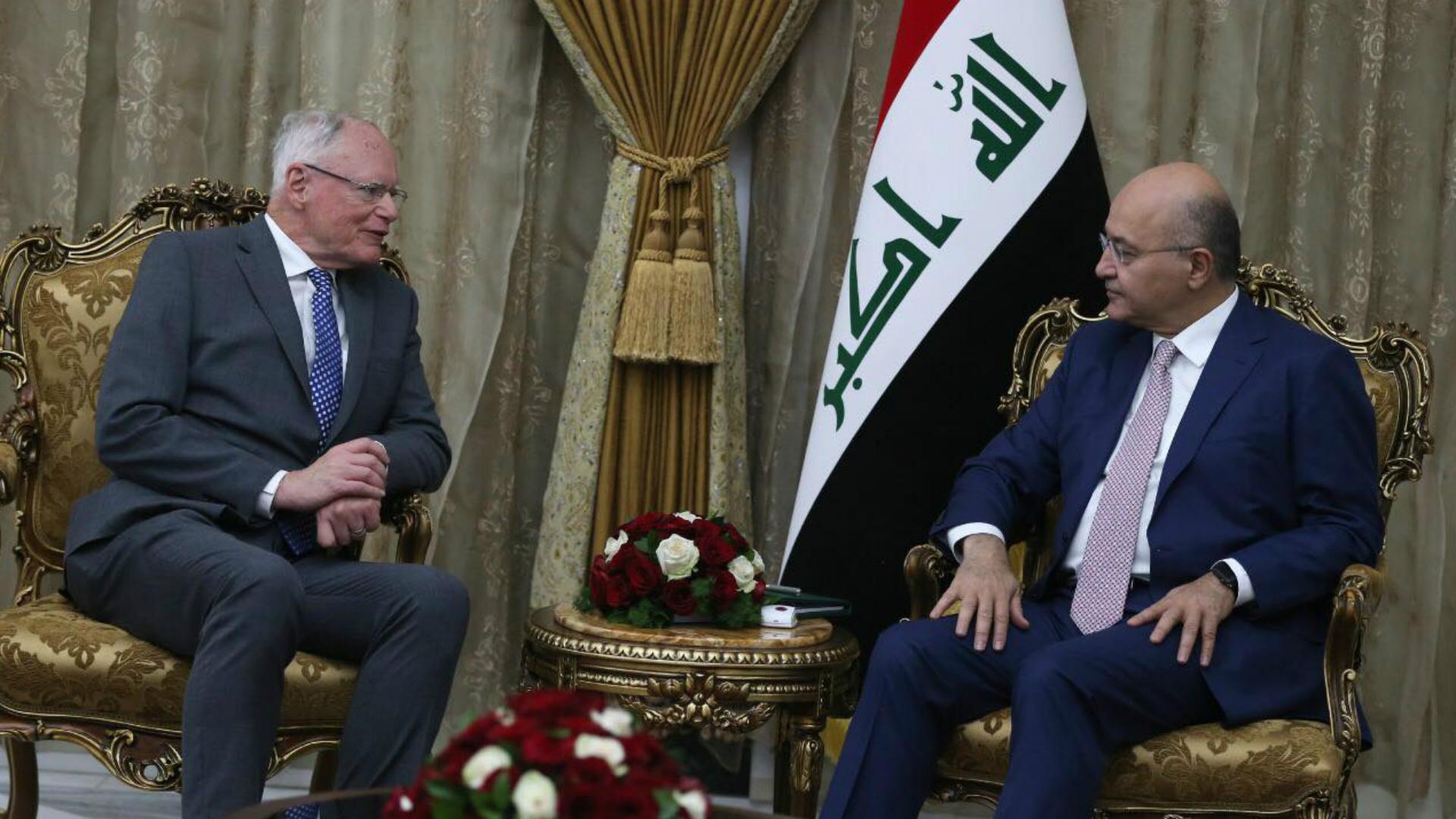 الرئيس صالح يؤكد انتهاج العراق سياسية متوازنة لتخفيف التوتر الإقليمي