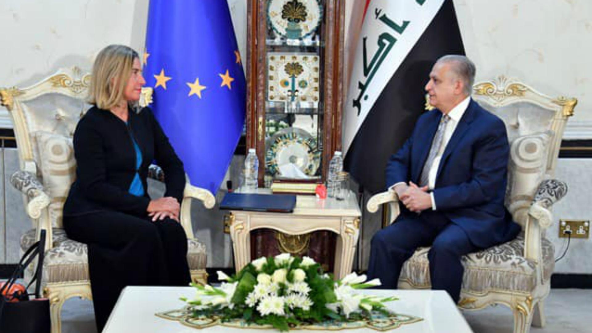 الحكيم وموغيريني يؤكدان التزام بغداد وبروكسل بتخفيف التوتر في المنطقة