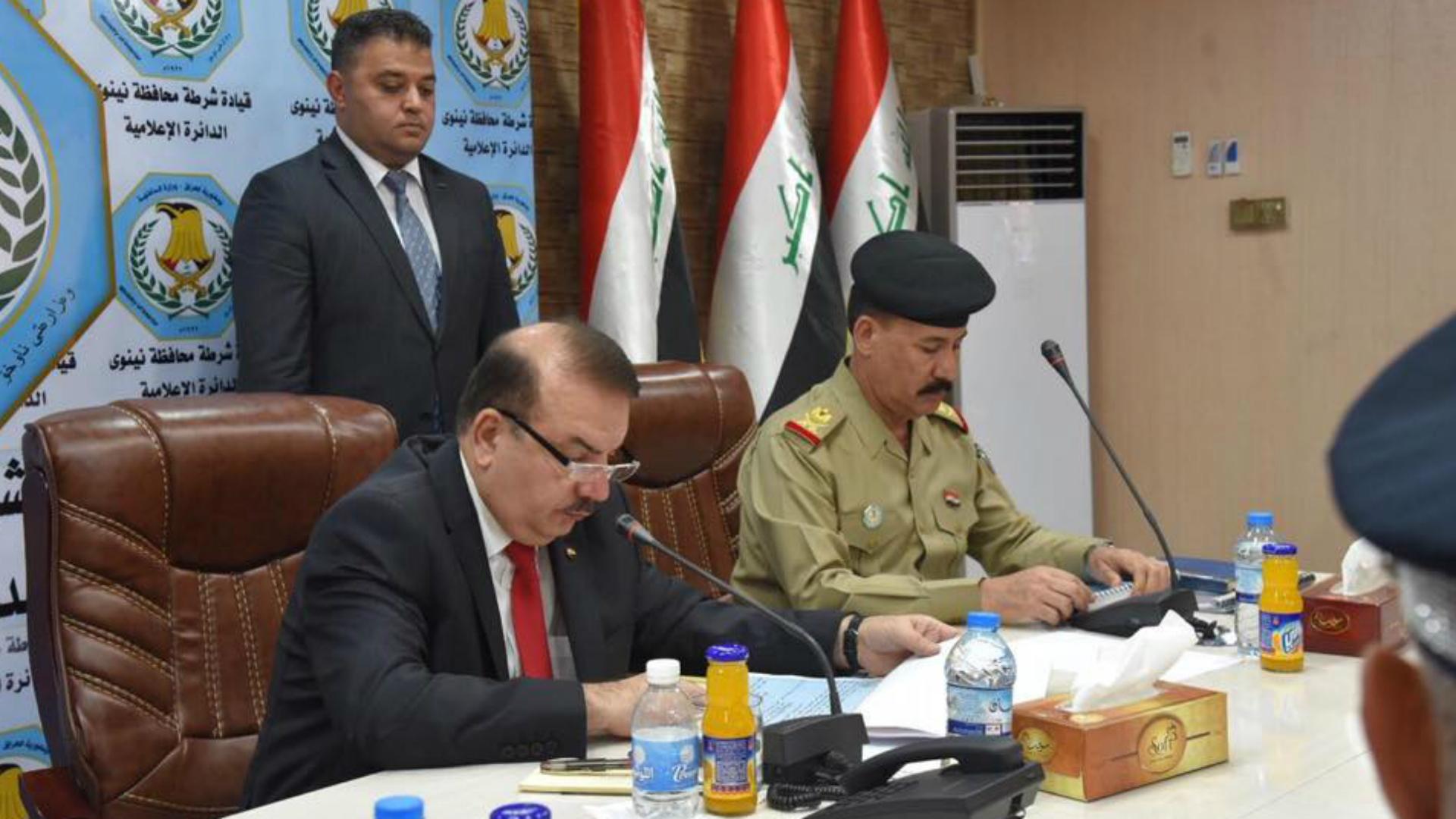 وزير الداخلية يعلن عن إعادة 13,000 منتسب مفصول إلى صفوف شرطة نينوى