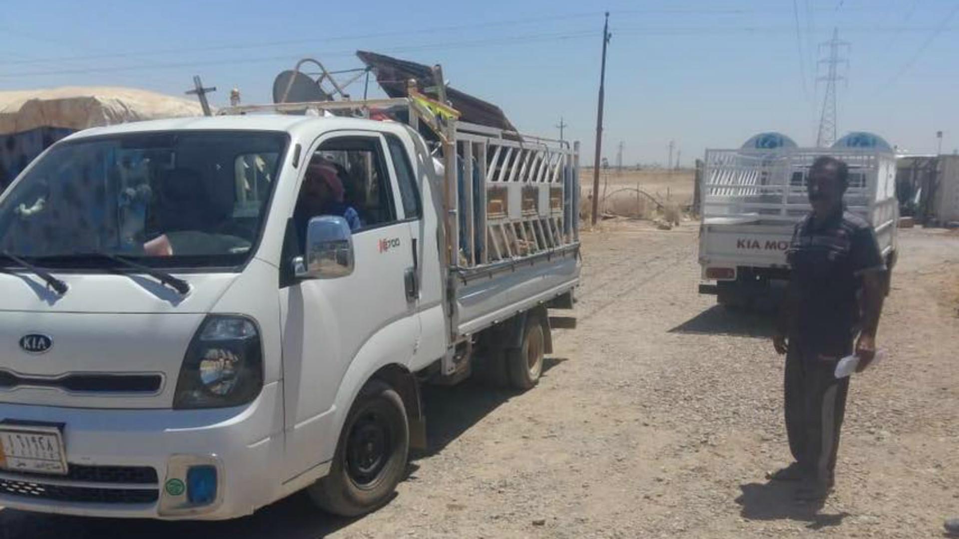 عودة 17 عائلة نازحة إلى قريتها المحررة في أبي صيدا شمال شرق ديالى