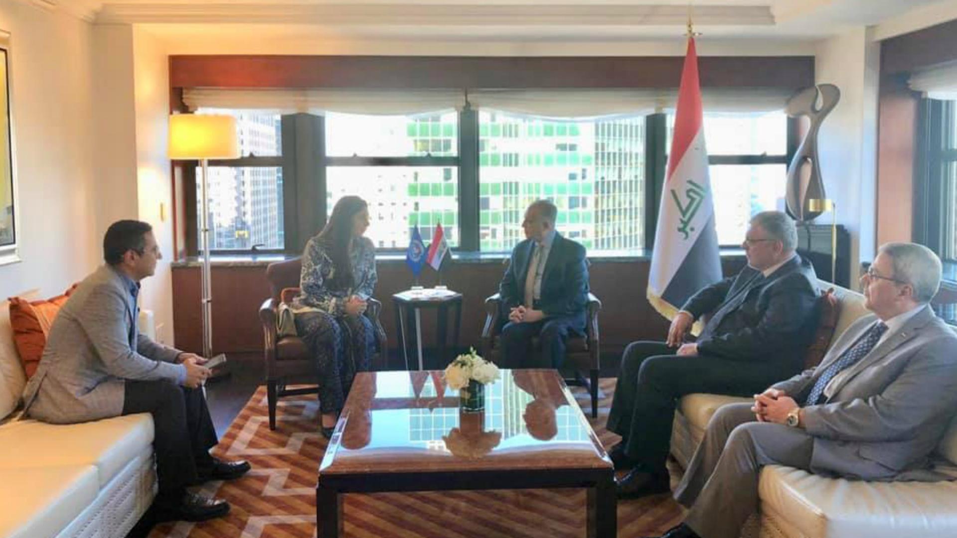 وزير الخارجية يؤكد سعي العراق لتحقيق التنمية المستدامة