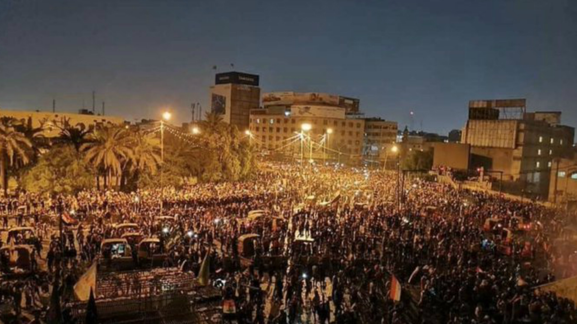 فرض حظر للتجوال في بغداد