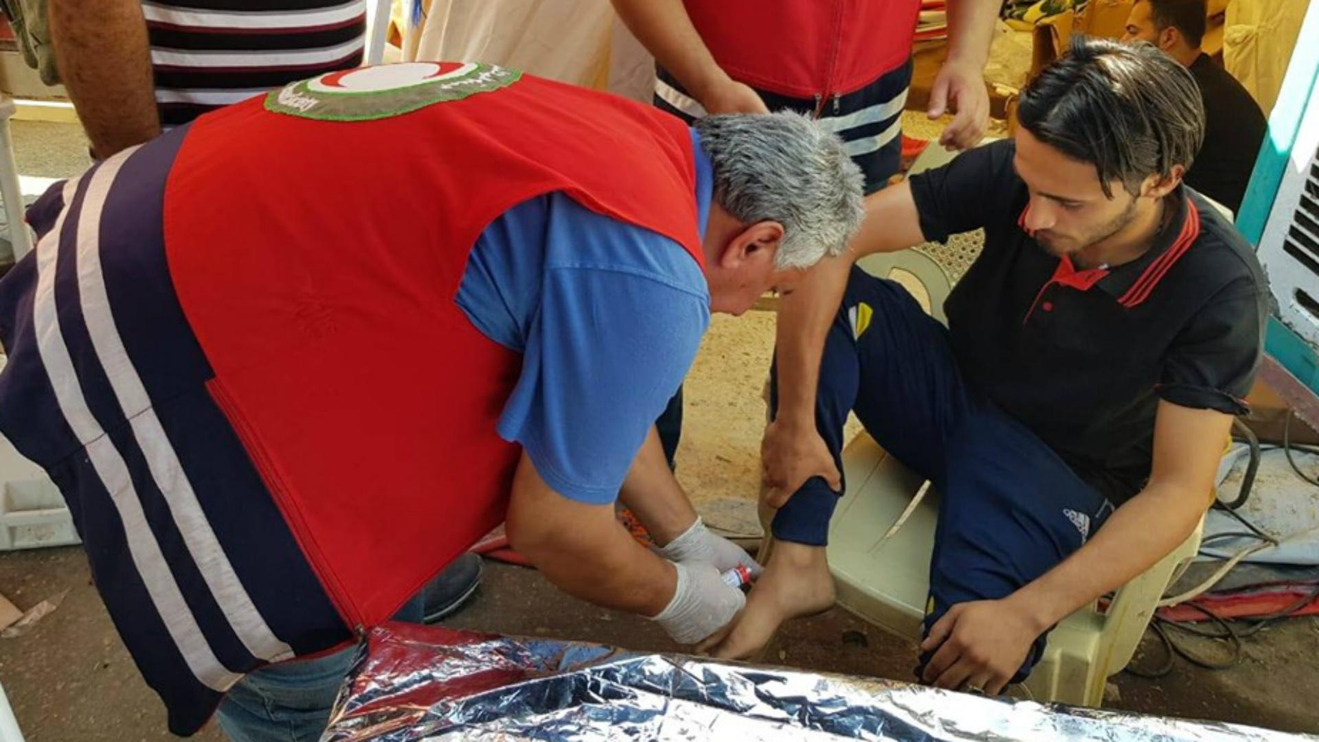 الهلال الأحمر العراقي يساعد 3 ملايين من زوار الأربعينية