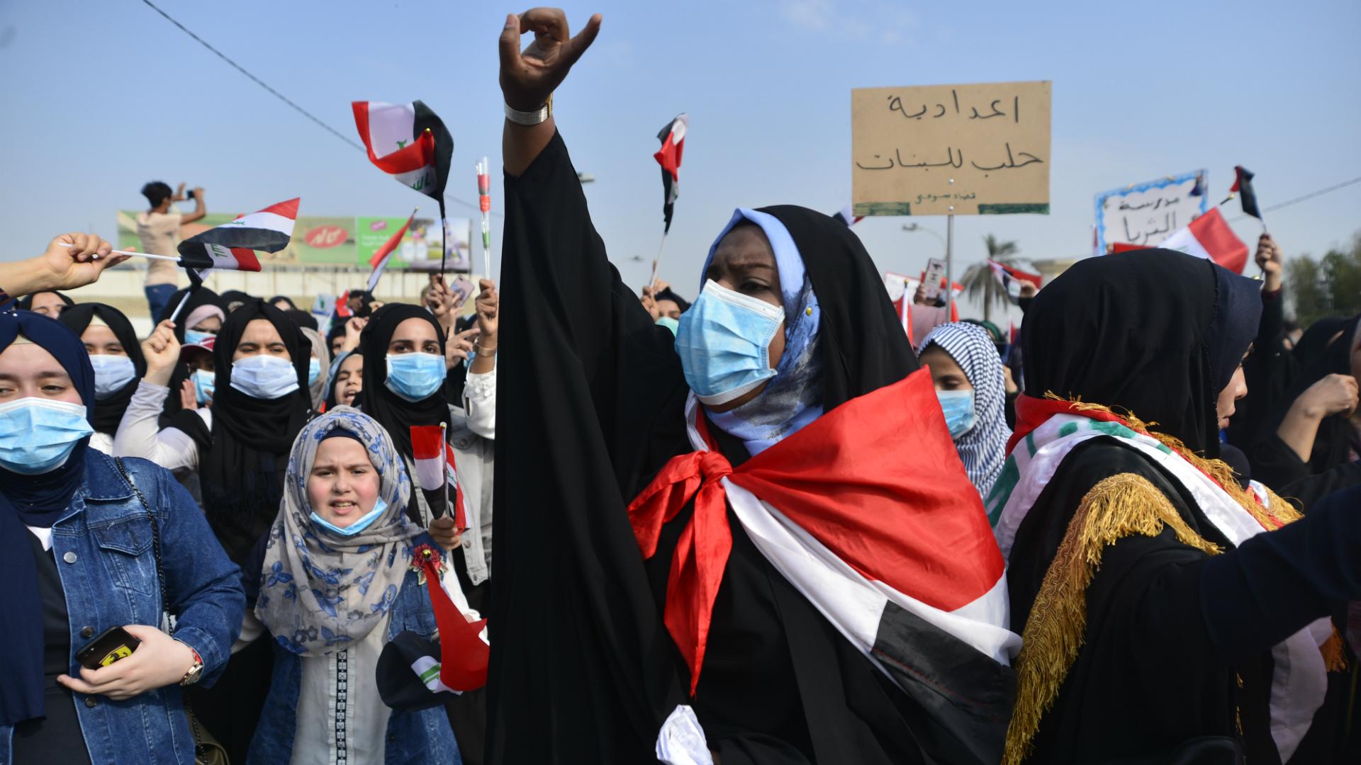 مشاركة الآلاف في إضراب عام في بغداد ومحافظات الجنوب