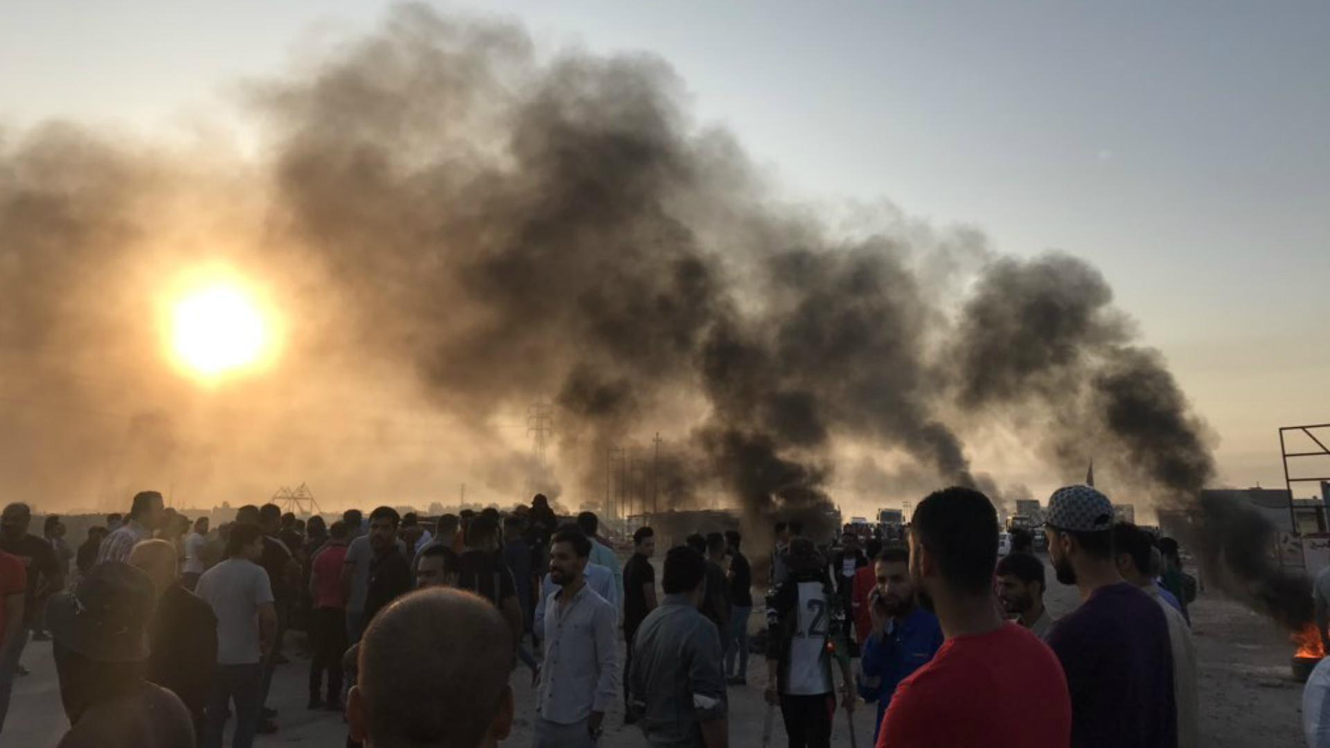 مفوضية حقوق الإنسان تعلن سقوط ١٢٠ مصاباً في تظاهرات أم قصر