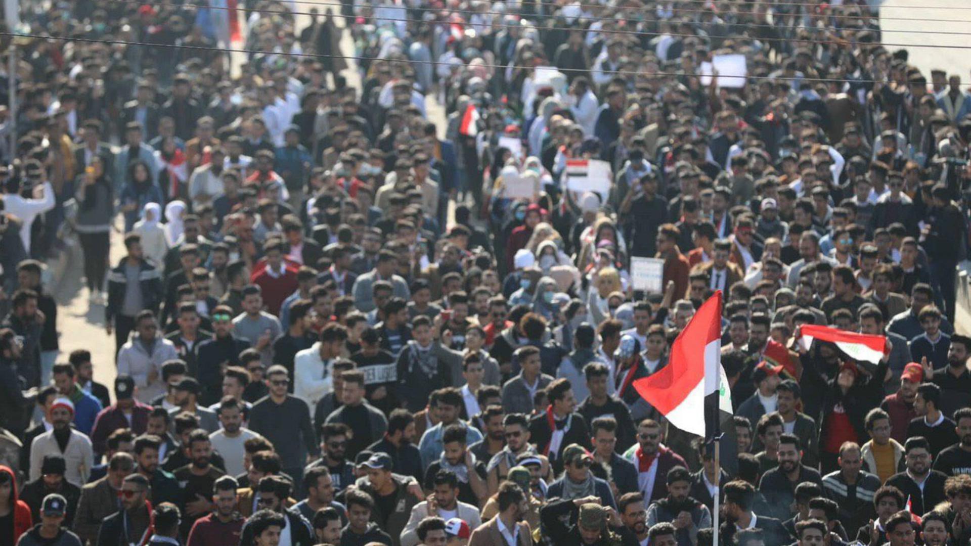 خروج مسيرات طلابية حاشدة دعماً للتظاهرات