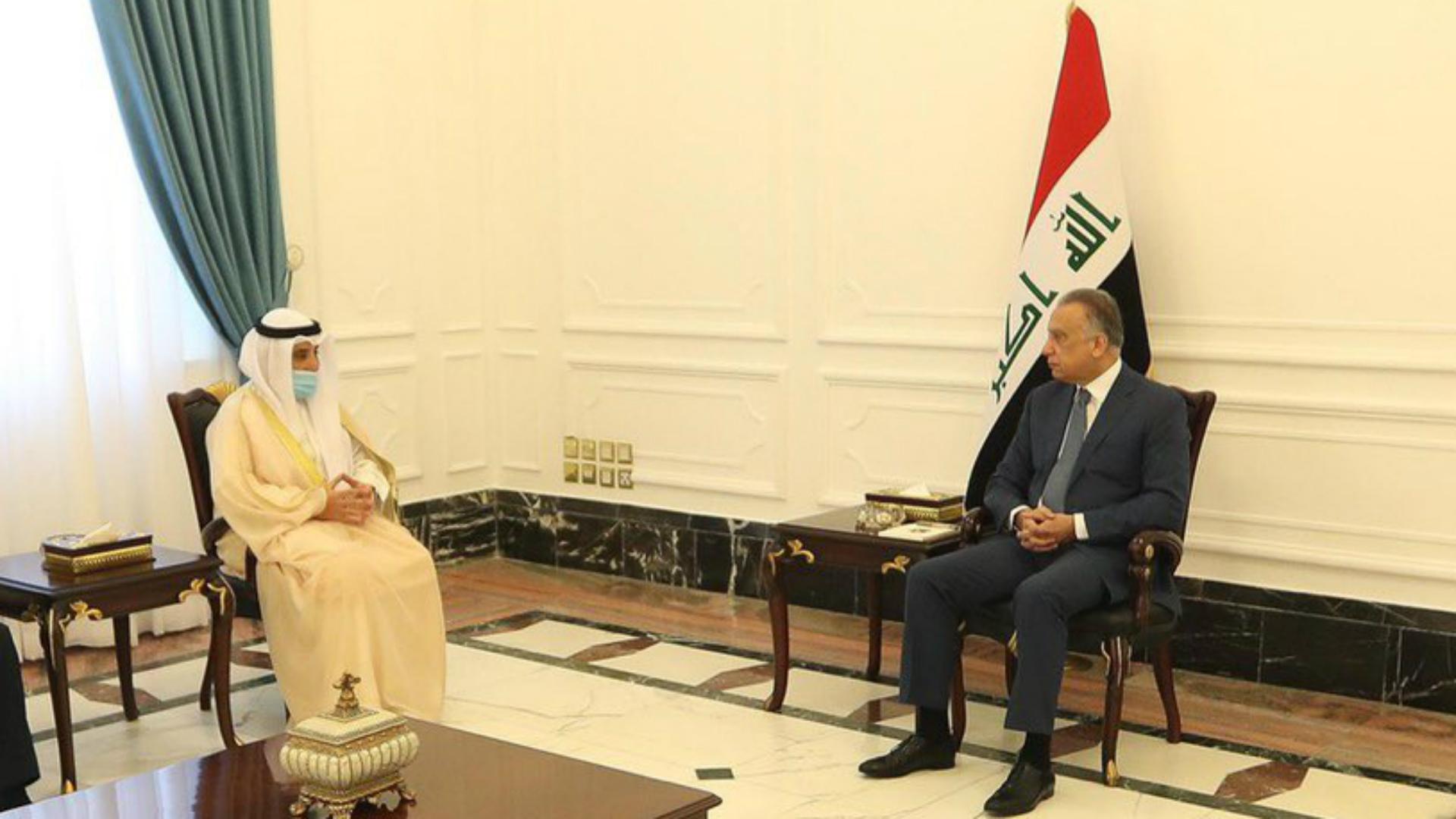 الكاظمي يستقبل وزير الخارجية الكويتي