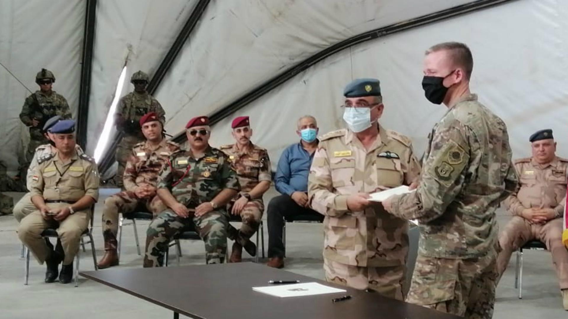 العمليات المشتركة: التحالف الدولي يسلم الموقع رقم 8 في معسكر التاجي