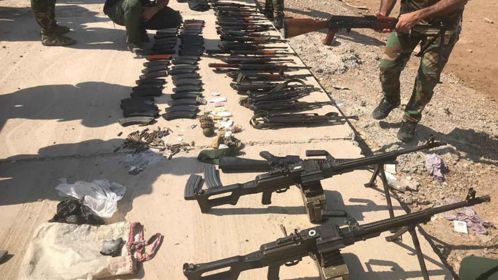 عمليات البصرة: مصادرة كميات كبيرة من الأسلحة غير المرخصة واعتقال 13 مطلوباً