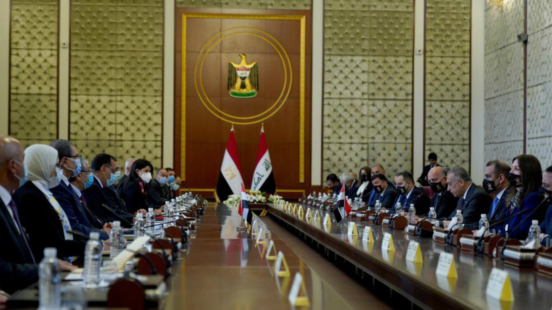 الكاظمي يستقبل وفد الحكومة المصرية لبحث التعاون المشترك