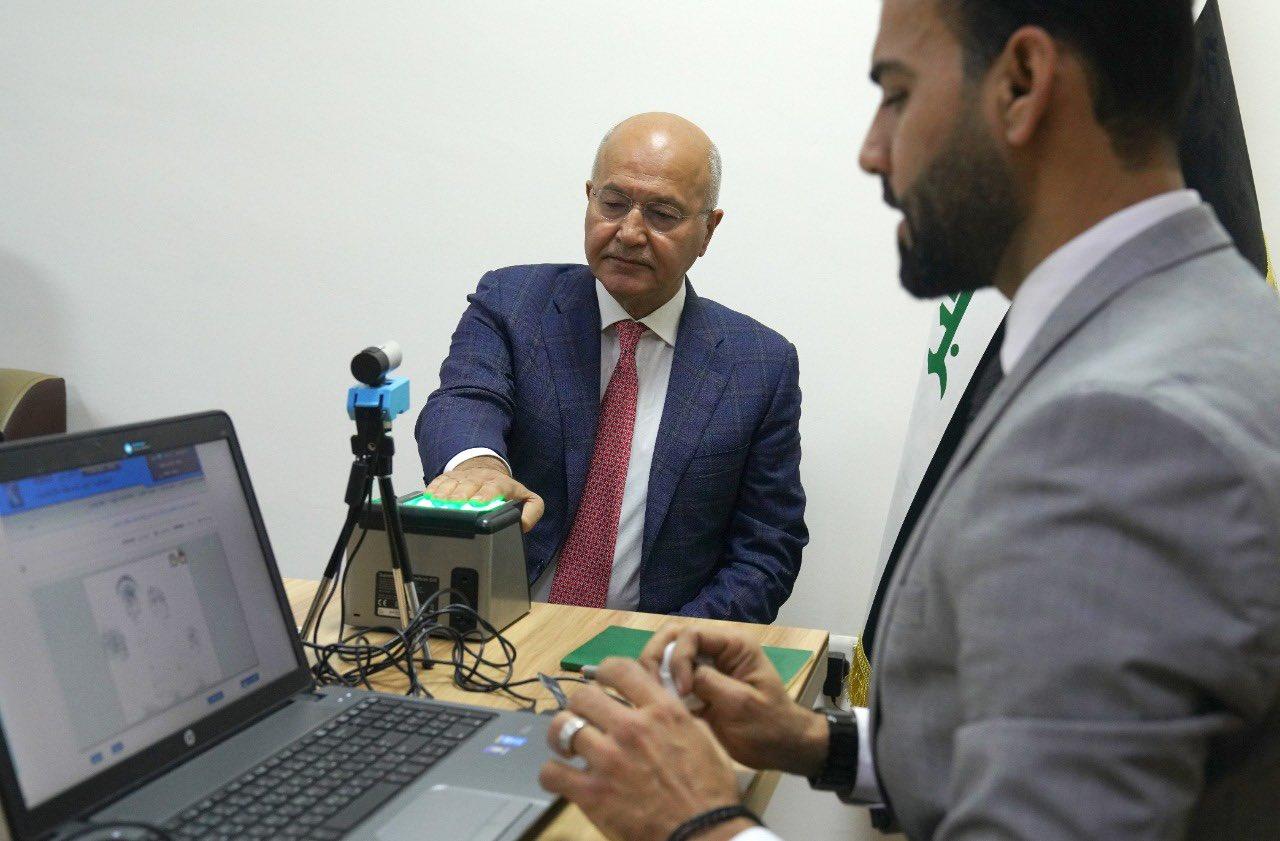 الرئيس صالح يحث المواطنين على تحديث البطاقة البايومترية