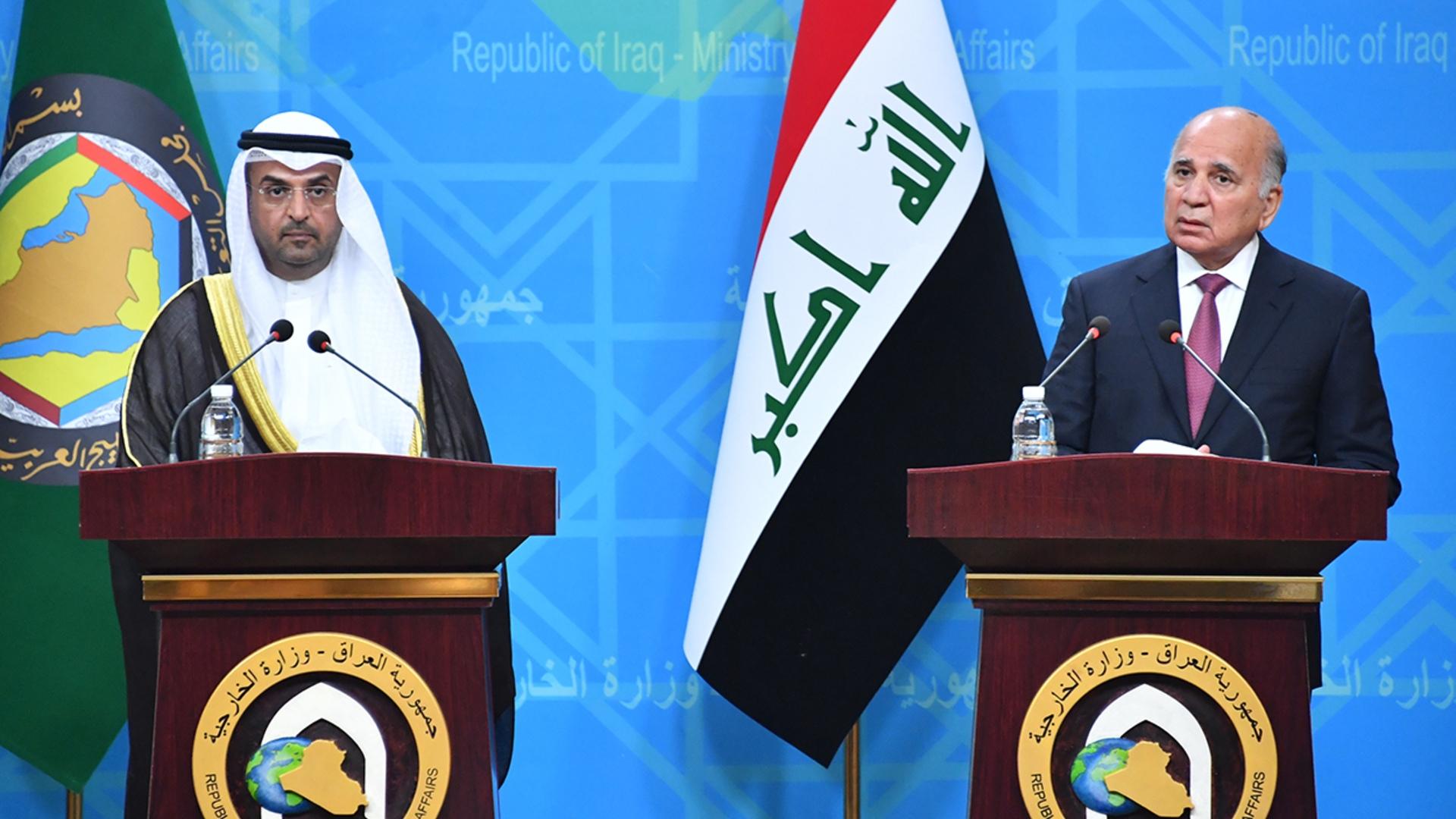 وزير الخارجية يبحث الربط الكهربائي والاستثمارات مع الحجرف