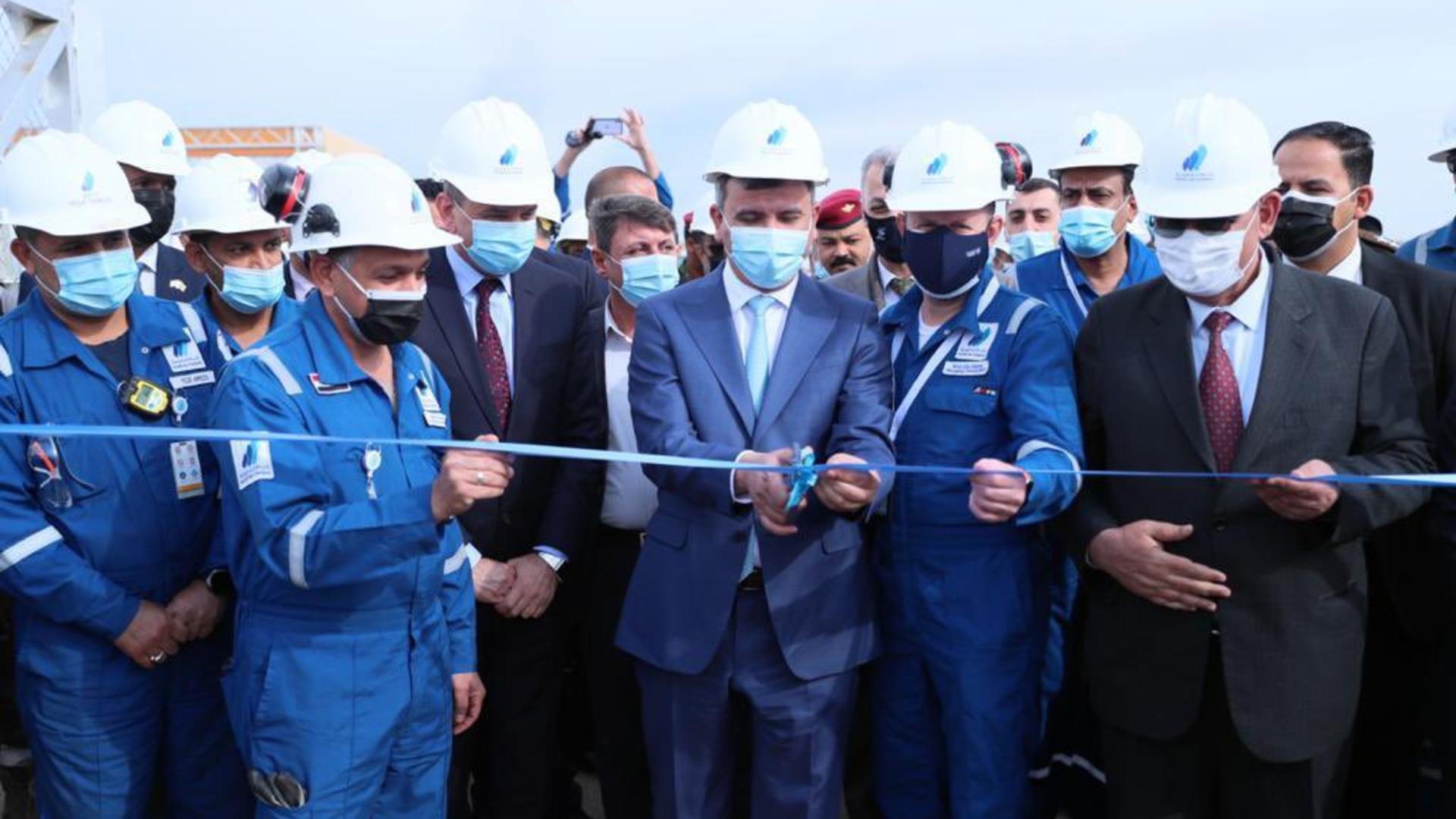 وزارة النفط تفتتح محطة كبس الغاز الخامسة في حقل الرميلة الشمالية