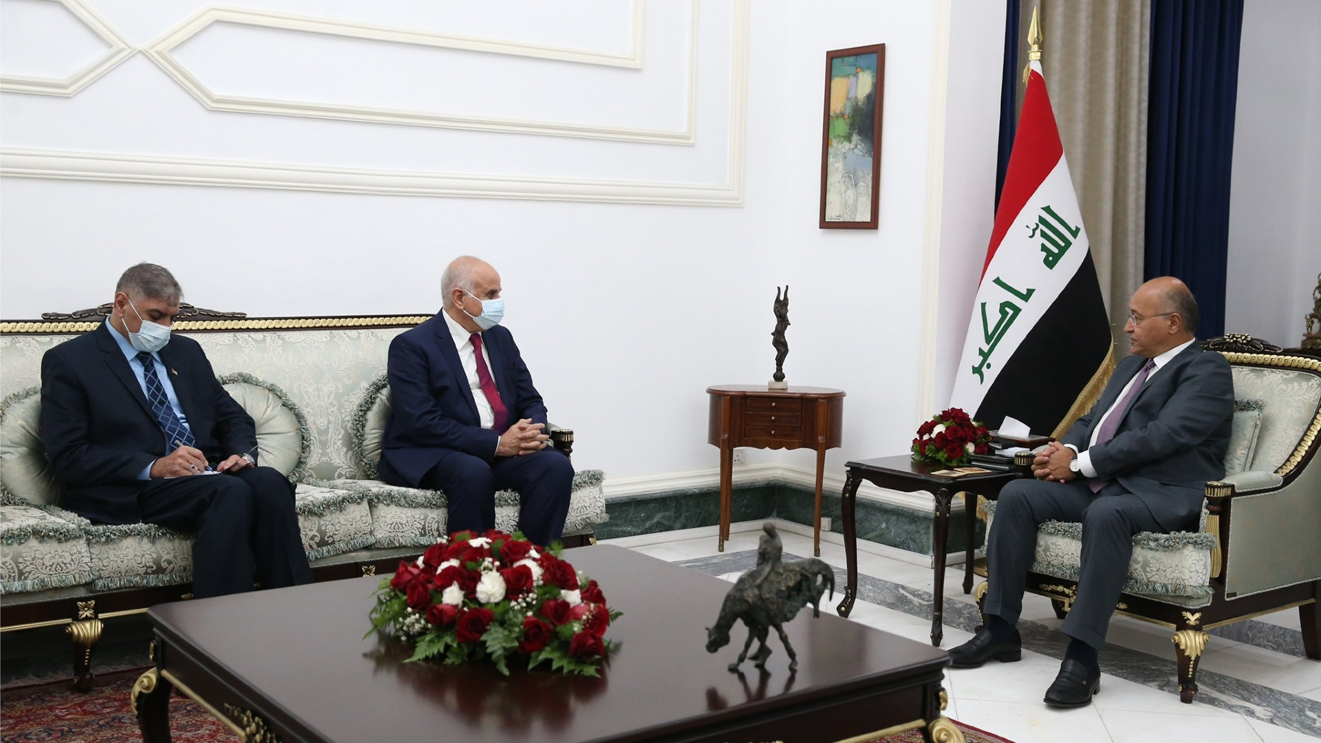 رئيس الجمهورية يؤكد موقف العراق الثابت في دعم الشعب الفلسطيني