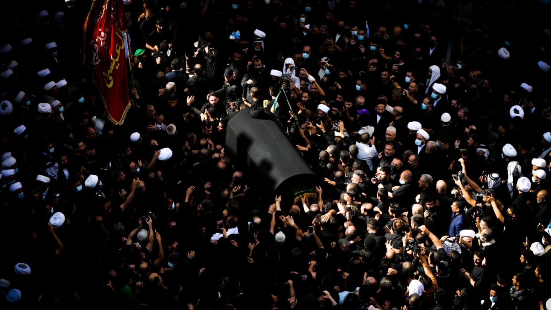 تشييع جثمان المرجع الديني آية الله العظمى السيد محمد سعيد الحكيم